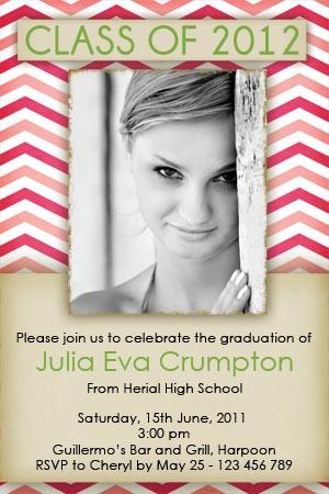 pink graduation invitation