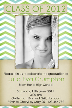 Modern Graduation Invitations for college grads