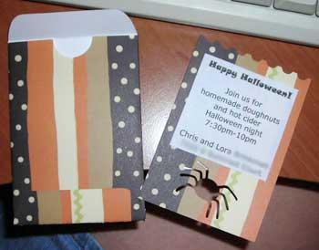 pocke halloween party invitation