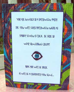 make these haloween invitations