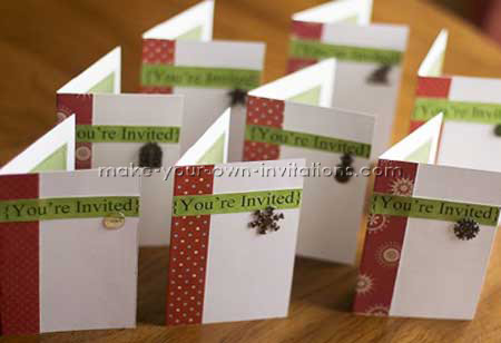 Homemade christmas party invitation make your xmas invitation stopboris Image collections