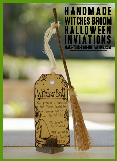 Finished handmade halloween invitaitons