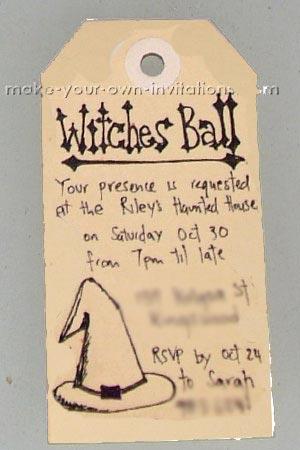 hand drawn halloween tag