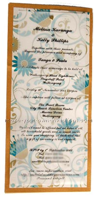 elegant homemade wedding invitations