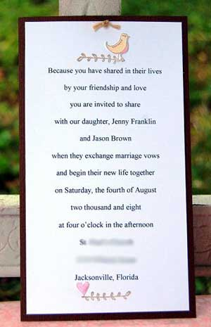 Return from homemade Wedding Invitations to Make Your Own Wedding Invitation