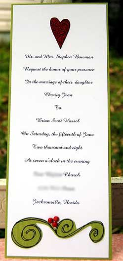 stamped wedding invitations