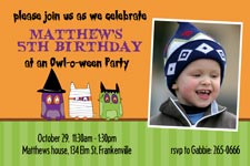 Owl-o-ween invitation