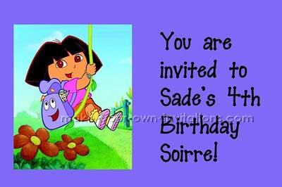Dora birthday invitations this dora party invitation idea rocks i made these dora invites in the same way that i made the blues clues invitatons filmwisefo Choice Image