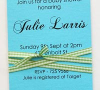 create invitations with ribbon 5