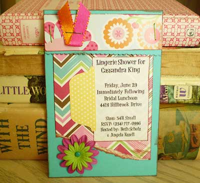 make lingerie party invitations
