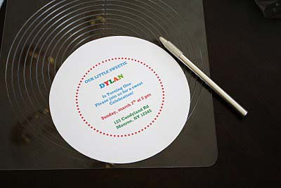 printed Lollipop Invitation template