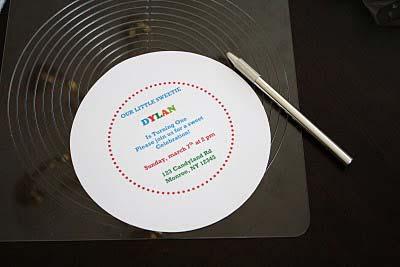 printed Lollipop Invitation template