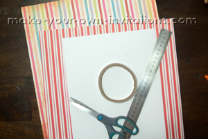 DIY circus invitation supplies