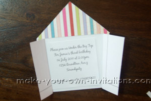 circus invitation wording