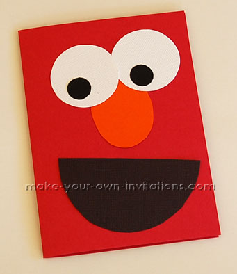 How to Make Elmo Invitations