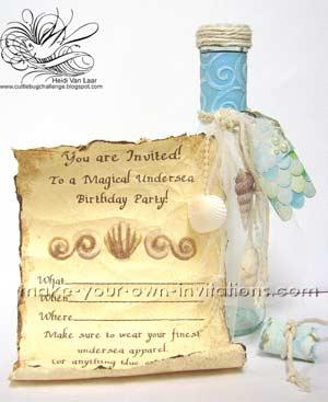 Mermaid Invitations