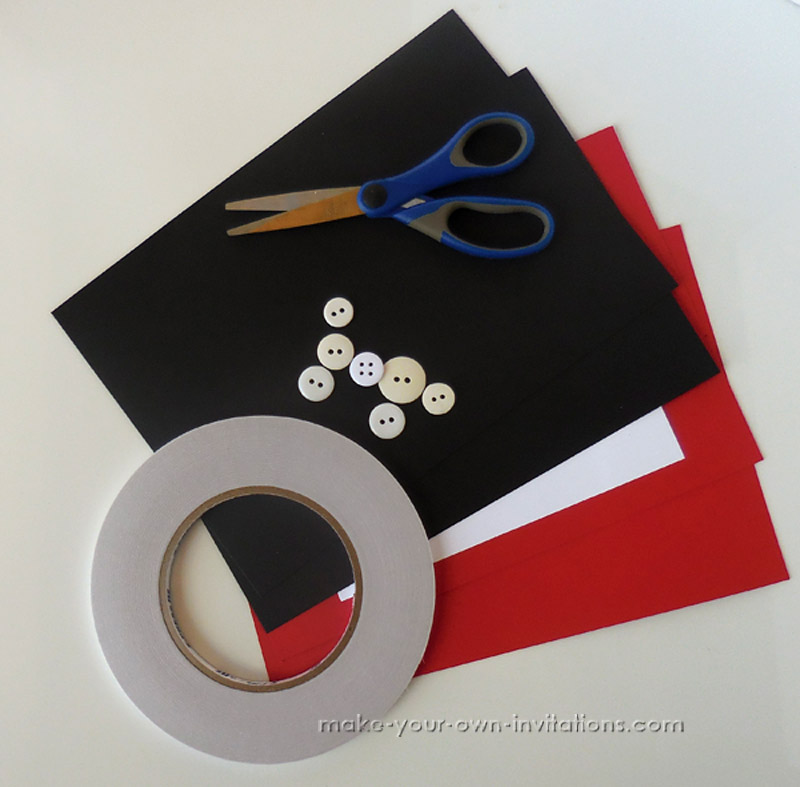 DIY Mickey mouse invitation supplies