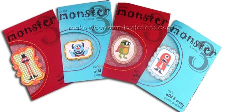 how to make monsters invitations