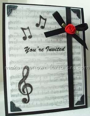Music Recital Invitations