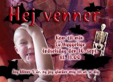 5th photo birthday invitation - larger image