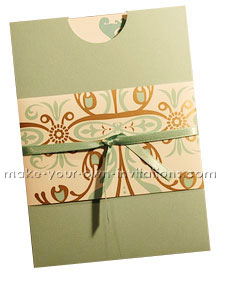 pocket wedding invitation