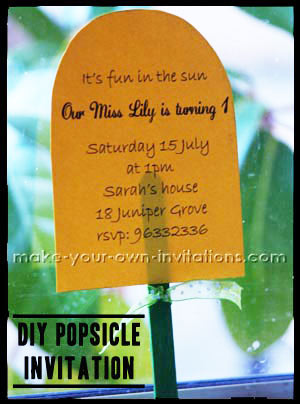 popsicle Summer party invitation