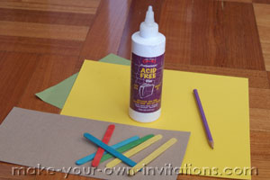 popsicle invitation supplies