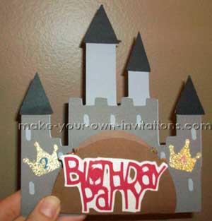 Knight and Princess Birthday Invitations