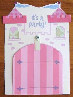princess invitations castle and drwbridge