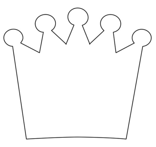 Nifty image within crown template printable