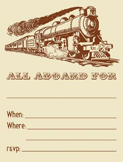 Free Printable Train Invitations
