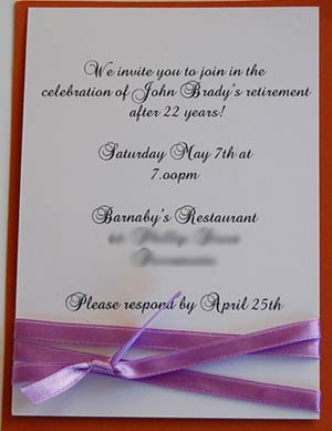 retirement invitation after 22 years.