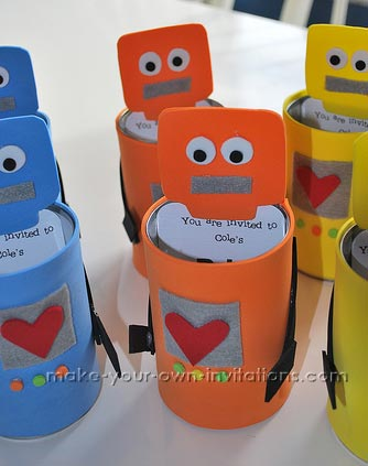 Make Homemade Robot Invitations