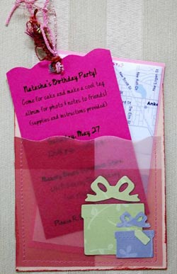 Sample Invitations for a Girls 3rd Birthday Party Made