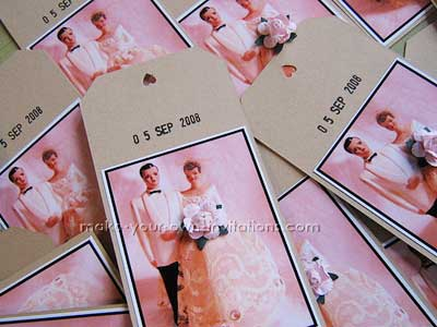 Save The Date Tag Card