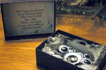 scary eyeball invitations for halloween