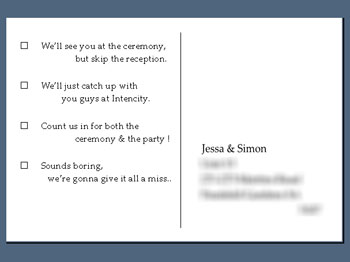 RSVP Wording for wedding invite