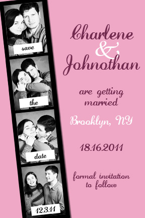 Photo Booth Save the Dates - pink