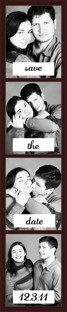 black and white Photobooth Strips