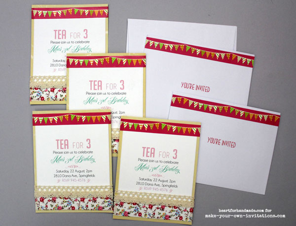 invitation set for tea party invitations.