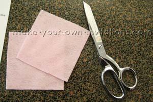 cut the felt squares