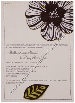 stitched invitations
