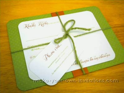 Handmade Simple Wedding Invitations Set Handmade invitation set