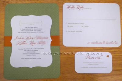 Materials to make this Green invitation