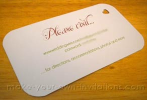 Simple Wedding website card