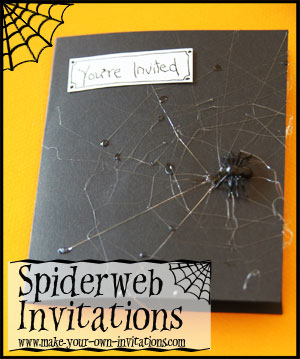 spider web invitations