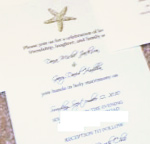 stamped starfish wedding invitations