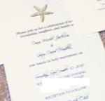 stamped starfish wedding invitations