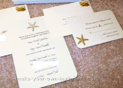 Starfish wedding invitatioins