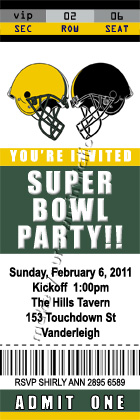 Create your own ticket invitation party invitations ideas for Super bowl party invitation template
